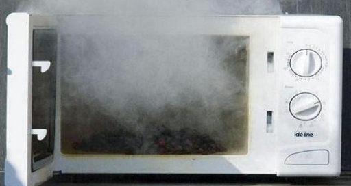 Дым из микроволновки