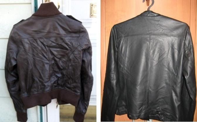 Куртки на вешалках