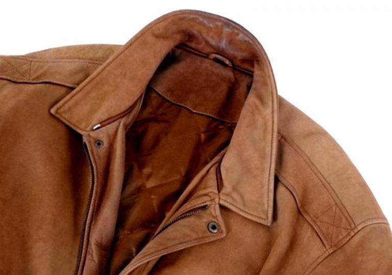 Засаленная кожаная куртка