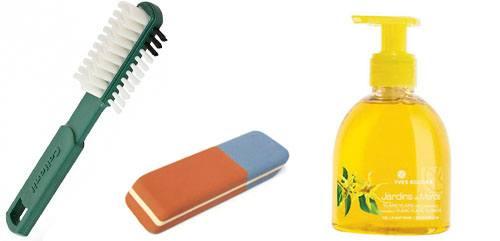 Щётка, ластик и мыло