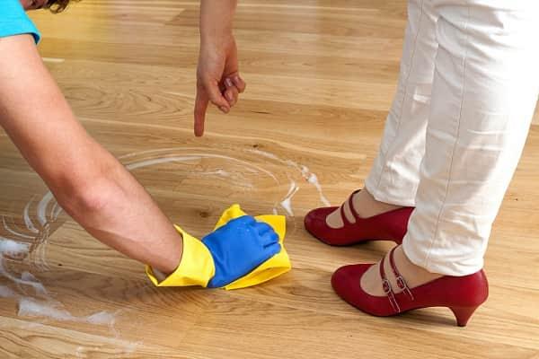 Как отмыть линолеум от краски