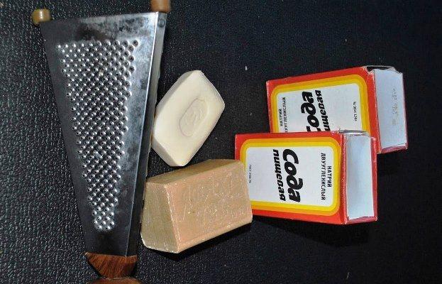 Готовим стиральный гель из соды и хозяйственного мыла
