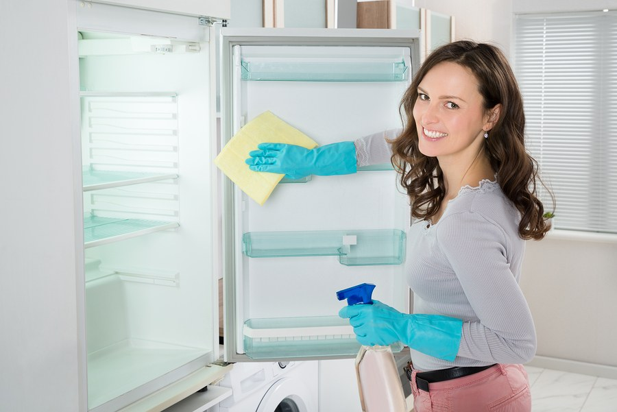 Отмываем грязный холодильник