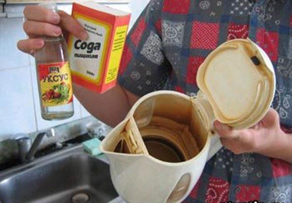 Чистка чайника уксусом
