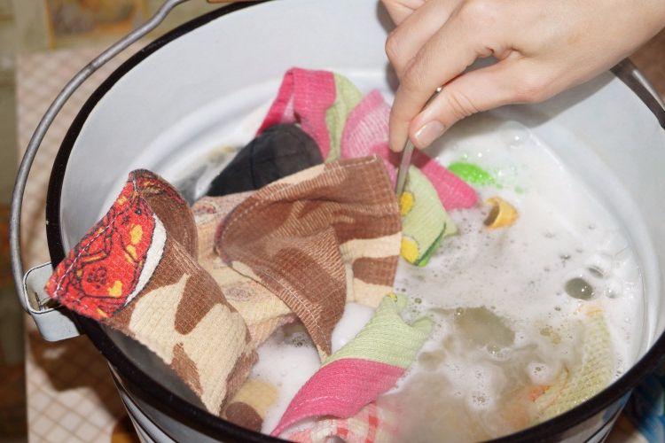 Вываривание кухонных полотенец