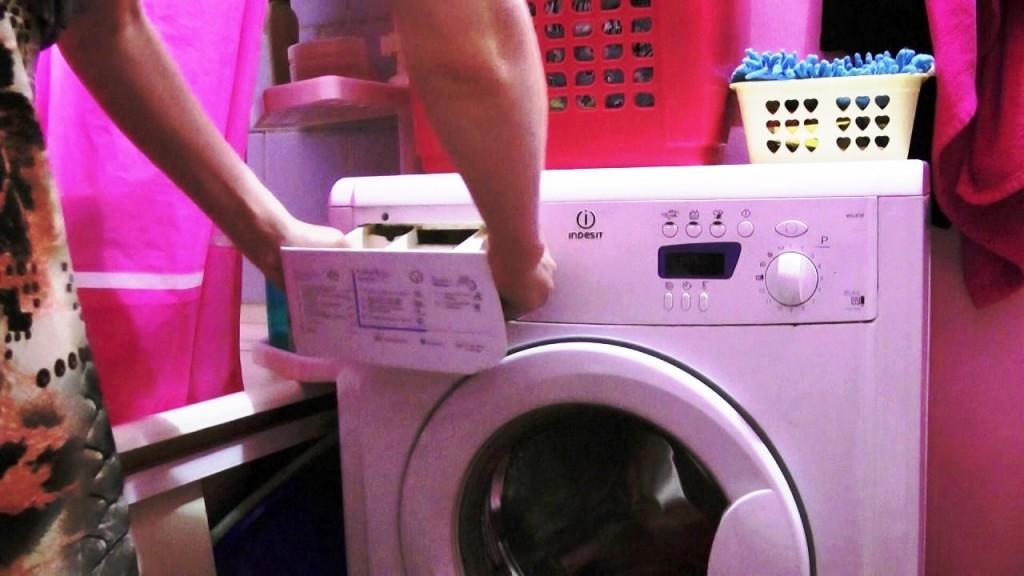 Чистка лотка для порошка стиральной машины