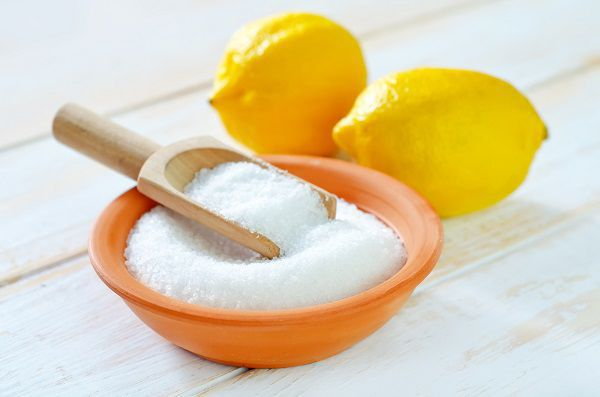 Средство для очистки чайного налета из лимонной кислоты