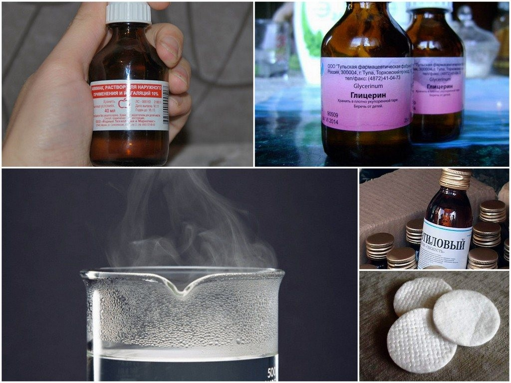 Как вывести чайные пятна глицерином и нашатырем