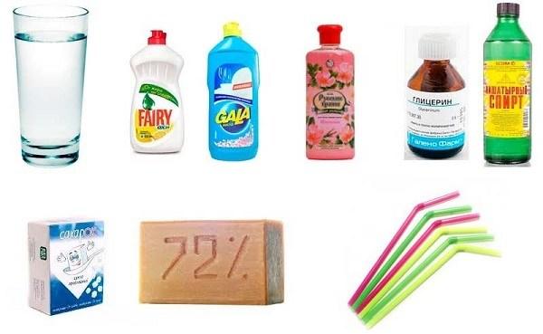 Ингредиенты для мыльных пузырей