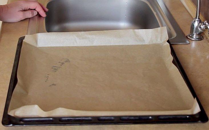 Используем пергамент для запекания в духовке