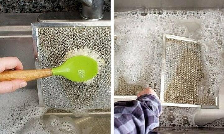 Чистка вытяжки средствами для мытья посуды