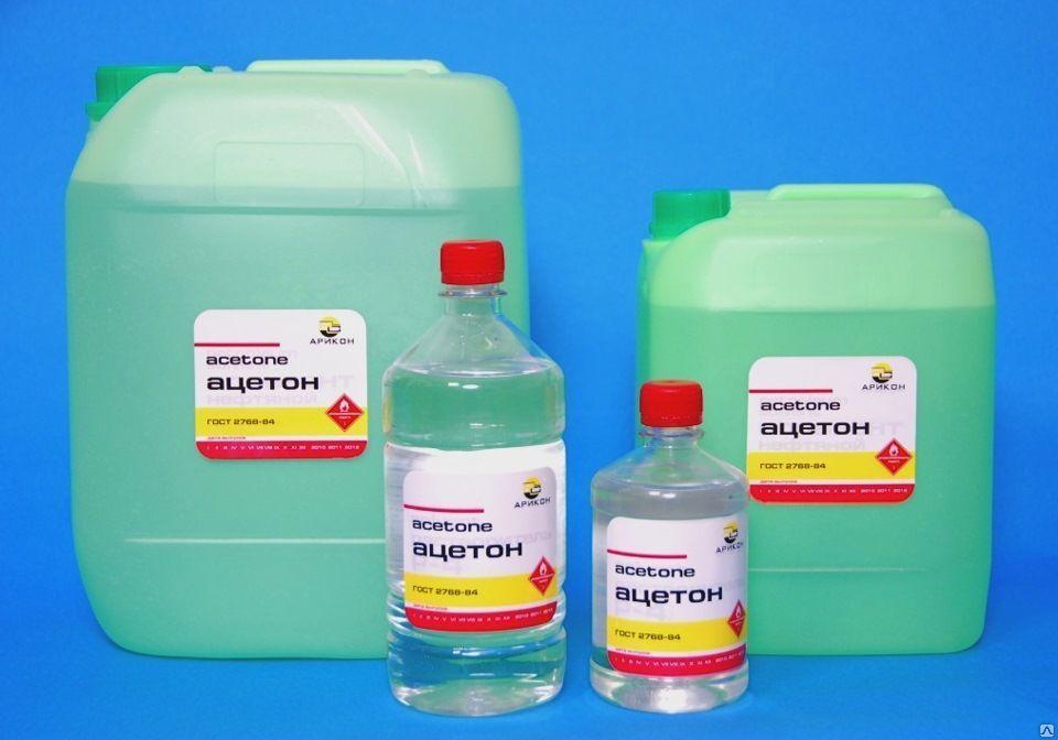 Очистка от силикона ацетоном