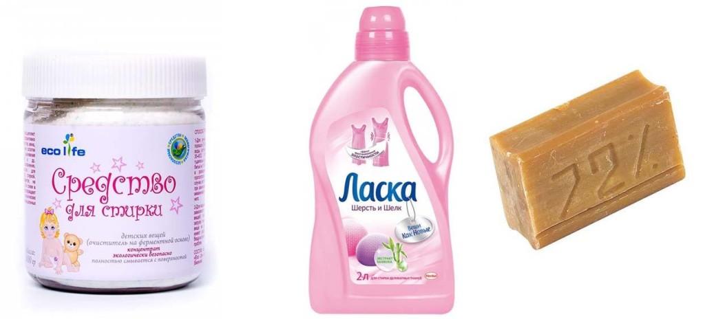 Средство для стирки, Ласка, мыло