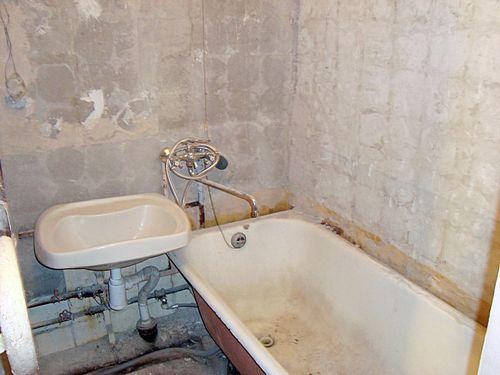 Ванна без финишной отделки