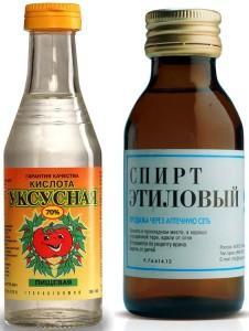 уксусная кислота и спирт