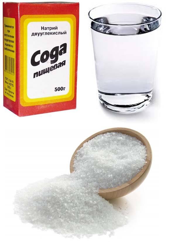 Сода, вода и соль