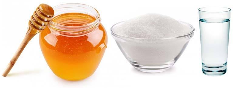 Мёд, сахар, вода