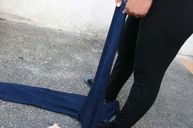 Растягивание джинс