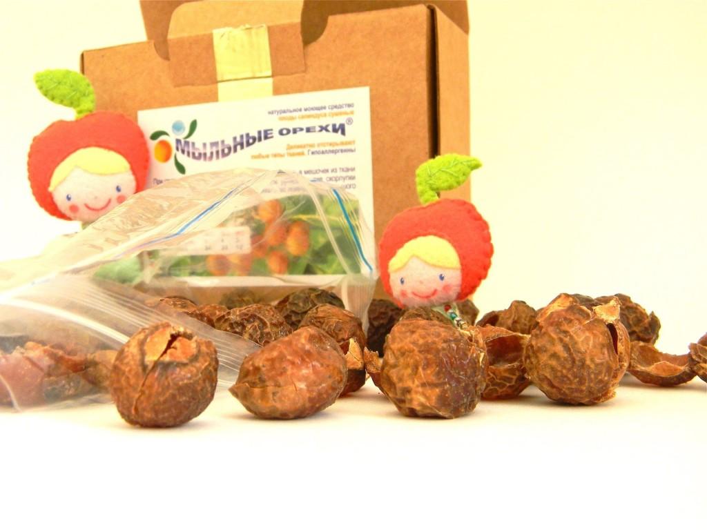 Стирка вещей для новорожденных мыльными орехами