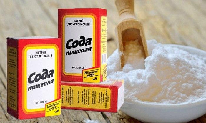 Чистка известкового налета содой