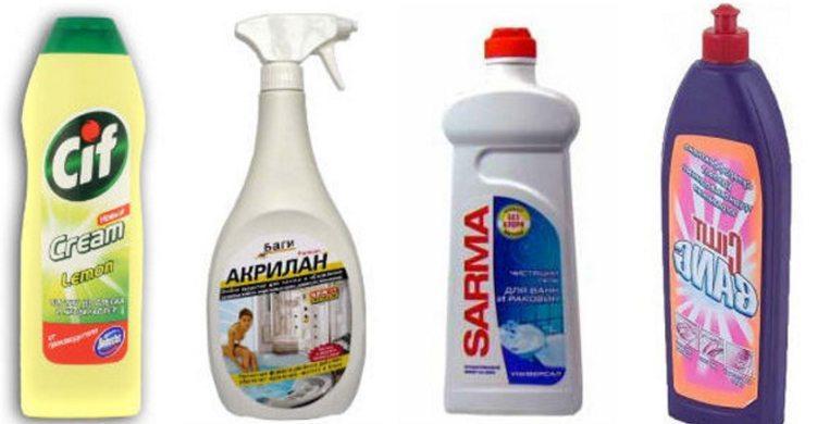 Специальные чистящие средства для ванны