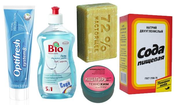 Возможные средства для очистки фломастера с одежды