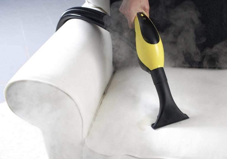 Почистить кожаный диван пароочистителем