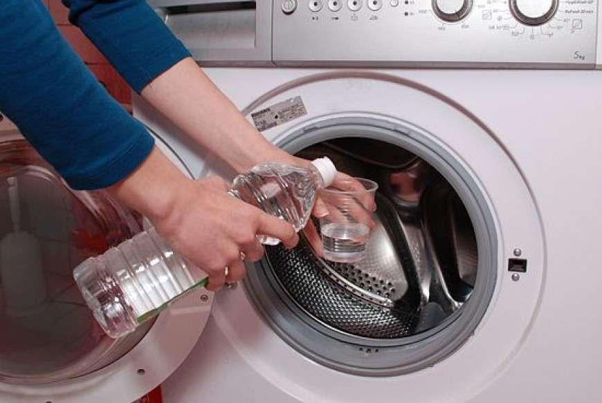 Очищаем стиралку уксусом