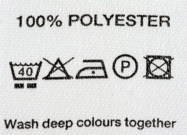 При какой температуре стирать полиэстер