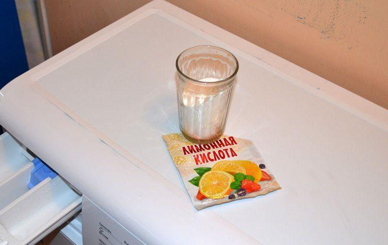 Дозировка лимонной кислоты при очистки стиральной машины