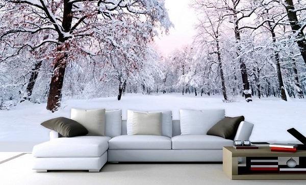 Мебель на снегу