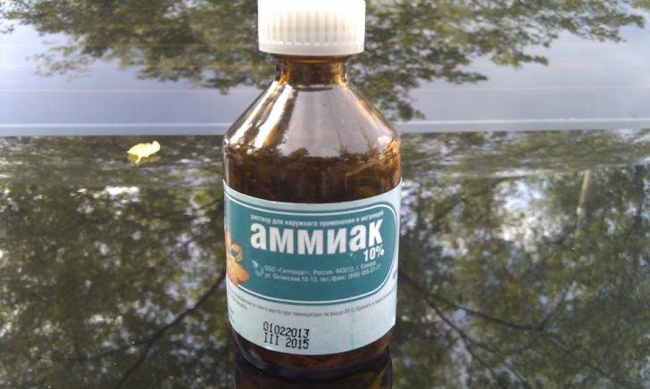 Аммиак для чистки пятен солярки