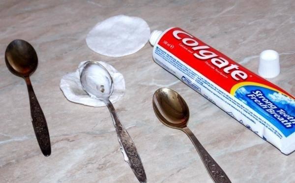 Зубная паста для чистки ложек