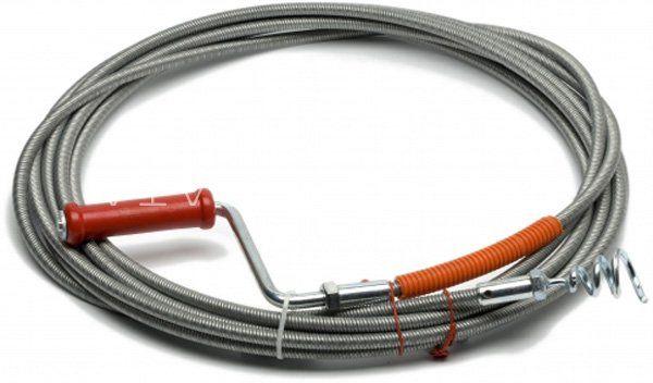 Трос для чистки канализационных труб