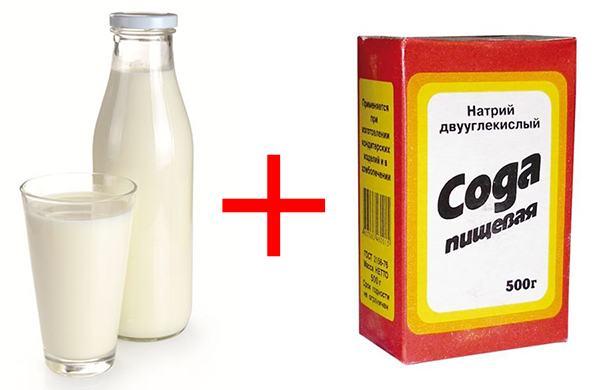 Смесь из молока и пищевой соды