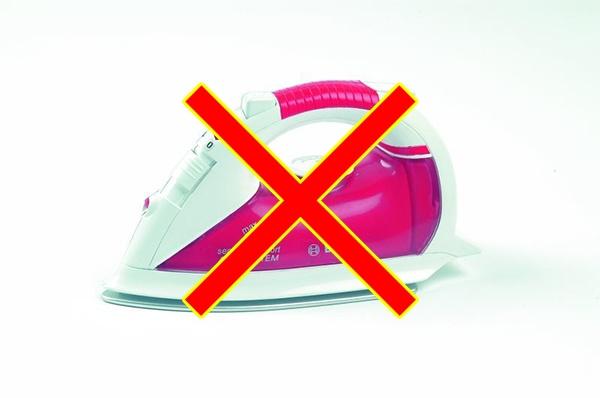 Глажка горнолыжного костюма запрещена